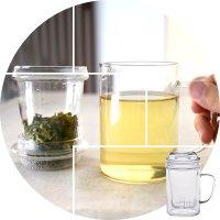 茶こし付き耐熱ガラスマグカップ 400ml×5個